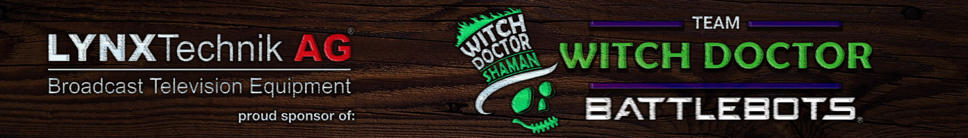 Sponsorip banner witch doctor battlebots